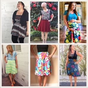 500fb2057f3 LuLaRoe Skirts - NWT Fun pink LuLaRoe Azure skirt -XL